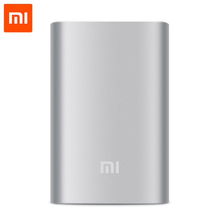 Original Xiaomi Mi Power Bank 10000mAh External Battery Portable Mobile Power Bank MI Charger 10000mAh for Android Phones,iPad
