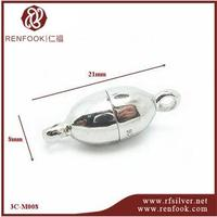 RenFook factory direct sale 925 sterling silver magnetic clasp for leather cord