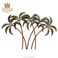 Coconut Tree Metal Wall Art Decor Relief Leaves Arts and Crafts Garden Decoration