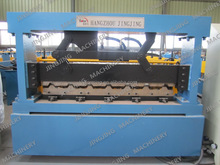 Color steel corrugated fin roofing sheet portable metal roofing roll forming machine/band making machine