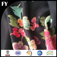 Custom digital printed thick polyester stretch knit fabric