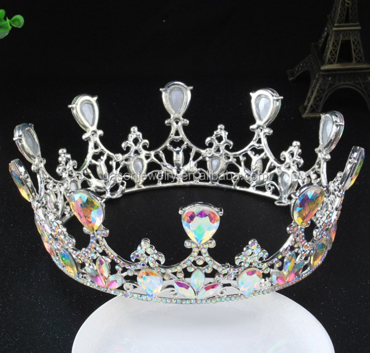 Real Gemstone White Gold Wholesale <strong>Crowns</strong> And Tiara Princess <strong>Crowns</strong>