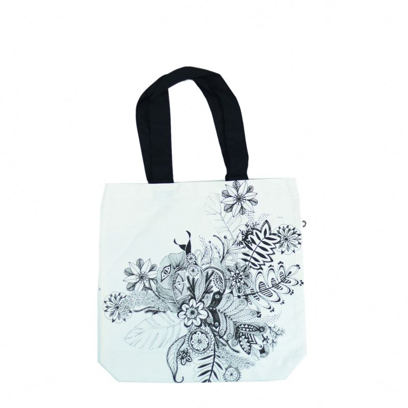 rope handle tote bag