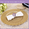 PZ37650 wholesale cheap wedding peacock gold glass charger plates