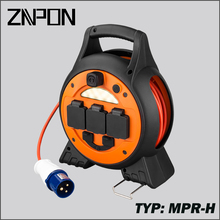 ZNPON TPYE MPR-H 15M 3 way UK Electric Cable reel with LED light and USB