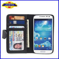 Credit Flip Leather Case Pouch For Samsung Galaxy S4 SIV i9500 i9505----Laudtec