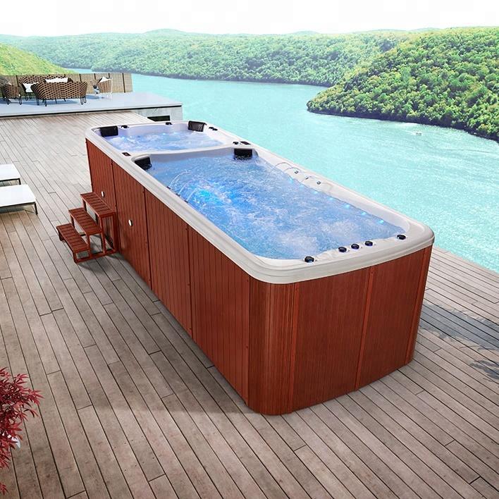 Acrylic mini swim jet swimming pool massage whirlpool outdoor pool hot tub  combo, View pool hot tub combo, Cobuild Product Details from Foshan Cobuild  ...