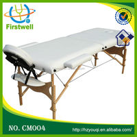 Firstwell folded table in PVC leather and wooden legs