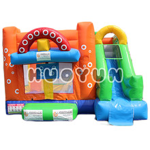 2018 Guangzhou Popular Colorful Commercial Inflatable Bouncer Slide Combo For Kids with High Quality For Sale