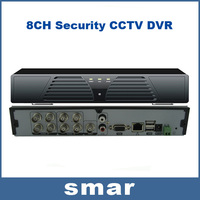 8CH Security CCTV DVR H.264 2ch D1+6ch CIF Real-time Recording Support Audio P2P Network 3G Android Iphone Remote Surveillance