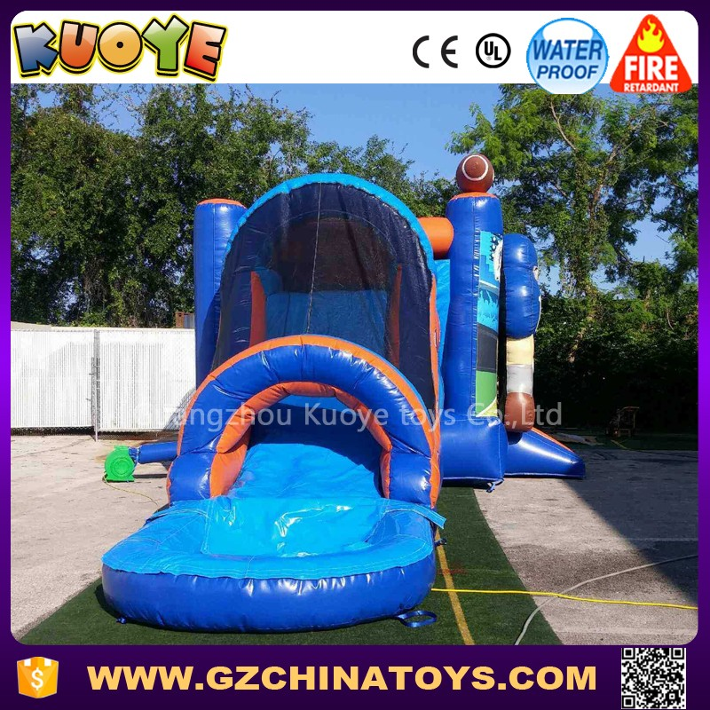 4 in 1 3D infltable water bounce Combo with pool