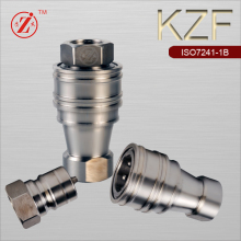 KZF 1/4 BSP stainless steel hydraulic quick release coupler