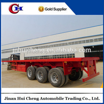40ft container heavy load trailer with 12pcs container lock