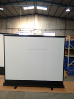 High definition motorized floor projection screen with best price