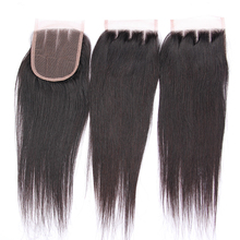 Wholesale Cheap Human Hair Silky Straight 3 Way Part Brazilian Hair Closure Piece Lace Closure