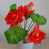 Home decoration artificial flowers silk flower water lily