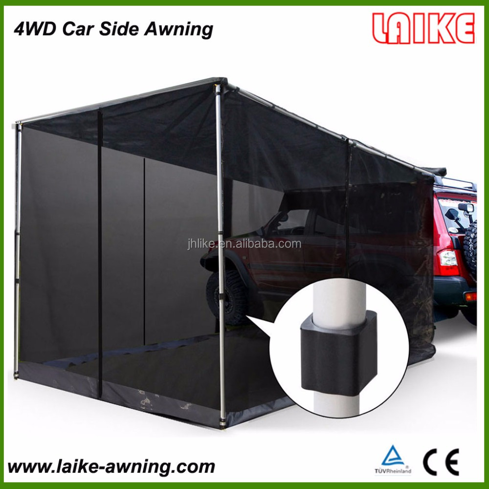4wd car top RV retractable side awning with net