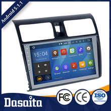 Android 5.1.1 os double din car dvd player 32g compatibility fast response for suzuki swift 2005 2016