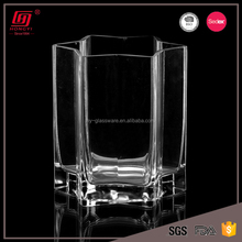 Wholesale cheap glass vase lead free star shaped tall vases for centerpieces wedding