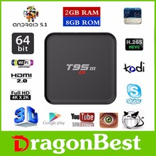 Real Android TV Box T95M 2G+8G S905 KODI16.0 Android 5.1 BOX from Dragonbest