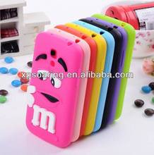Chocolate beans silicone case cover for galaxy s4 mini I9190