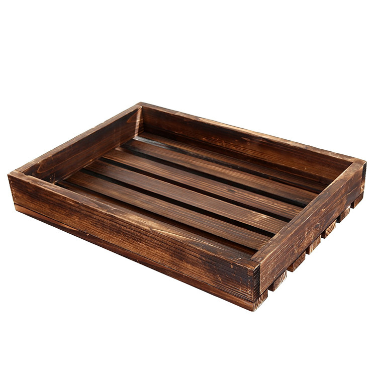 Special country rustic look home use wooden tray for food serving