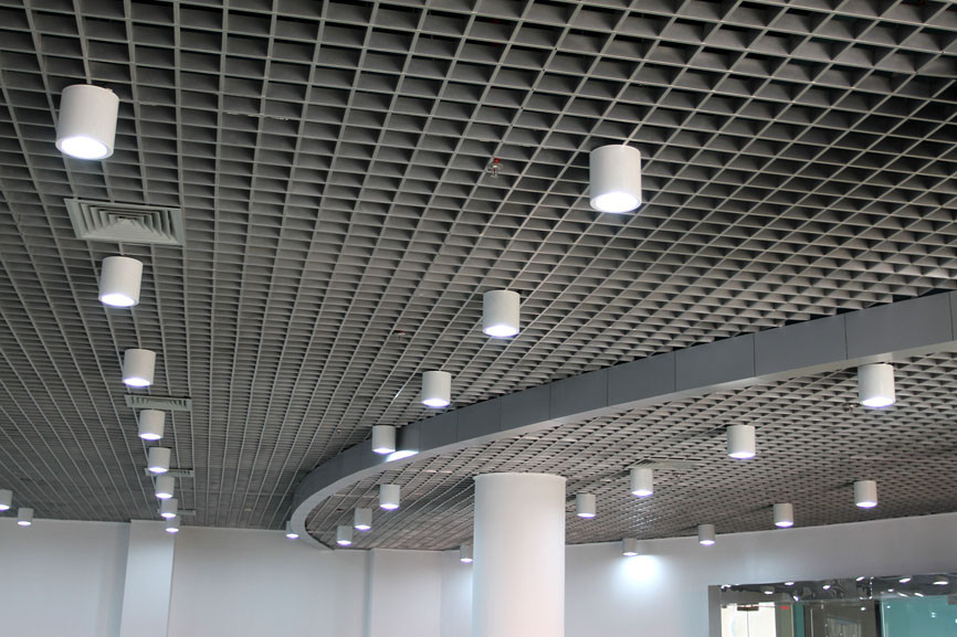 Aluminum Open Grid Suspended Ceiling Tile For Subway