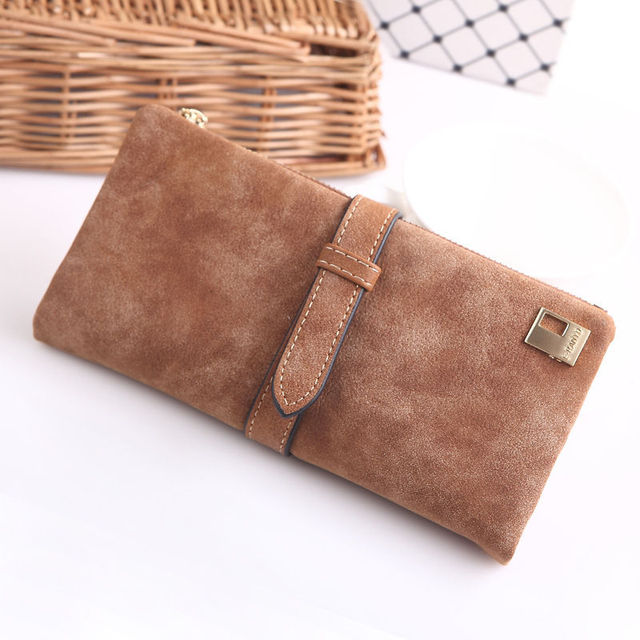 1 PC 7 Colors 2016 New Fashion Female Matte PU Leather Hasp Long Clutch Wallets Coin Purses Card Holder Handbag