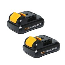 12V replace polymer lithium batteries for dewalt power tools,factory supply battery for online shopping
