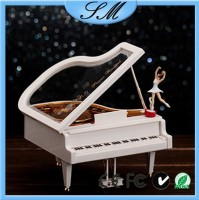 Buy crystal piano music box with LED base for Valentines day gifts ...