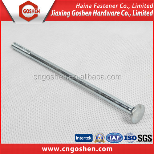 China supplier m10 galvanized flat head square neck carriage bolt