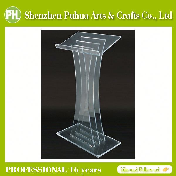 Handicraft Perspex School Lecterns, Presentation Lecterns, Pulpit Church Acrylic Lectern