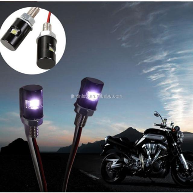 Waterproof 1W Led Bolt Light, 12V 2pcs LED SMD Motorcycle&Car License Plate Screw Bolt Light Lamp Bulb For Car,Motor
