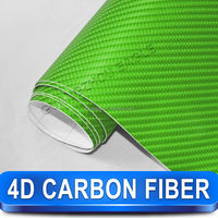 High Quality 4D Carbon Fiber Vinyl Car Sticker For Car And Motorcycle