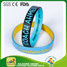 Manufacture cheap wholesale dual layers color buy silicone bracelet superman silicone wristband for promotion