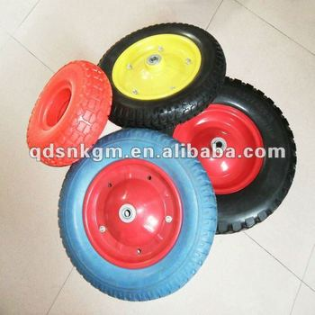 PU Flat Free Wheels For Wheelbarrow