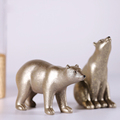 highly simulated gold polar bear statue for cheap wholesale