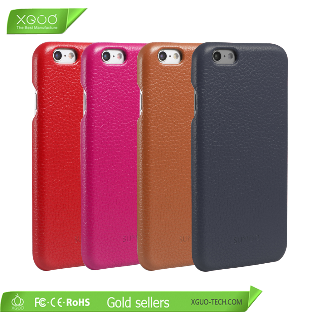 Black color smart phone protective cover genuine leather case for iPhone 6s