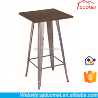 Used Commercial Cheap Metal Dining Room Design/Restaurant Bar Table for sale