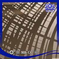 Decorative pattern metal sheet with etched/mirror finish stainless steel sheet
