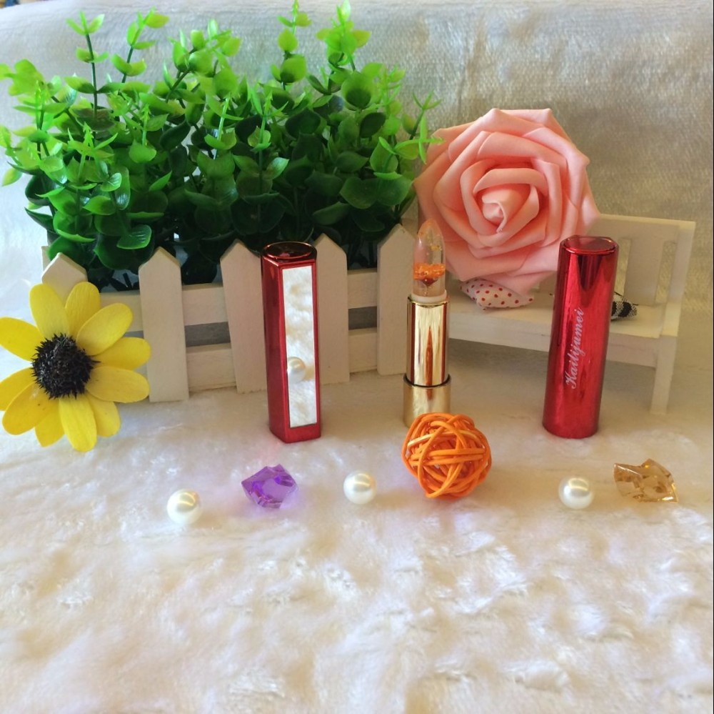 LX2679 Gold Foil Flowers Liquid Brands jelly With Price Matte Waterproof Kailijumei Lipstick