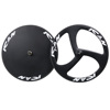 Full carbon 700C 3 spoke bike wheels 56mm tubular/ clincher, carbon disc wheel 700c