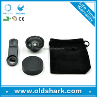 Universal Clip 3-in-1 Fish Eye Lens + Wide Angle + Micro Lens Camera Kit for mobile Phone/ for Samsung/ for iPhone