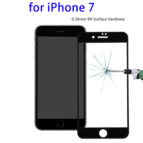0.26mm 9H Tempered Glass Screen Protector for iPhone 7 New Products, Full Screen Film for iPhone 7 Screen Protector