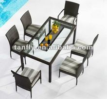 TF-9106 cheap patio rattan dining set,/indoor wicker table and chair