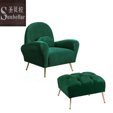 modern design velvet chair sofa single fabric stainless steel gold legs small sofa leisure chair home <strong>furniture</strong>