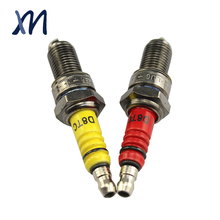 Low quality custom ceramic color D8tc motorcycle plug spark for India market