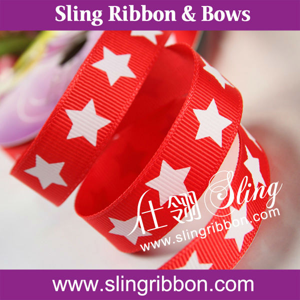 Ink Printing Ribbon With Star For Christms Day Decoration