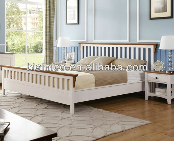 European Contemporary Country Furniture, Bedroom Furniture, Mission Style Double Bed & Queen Size Bed