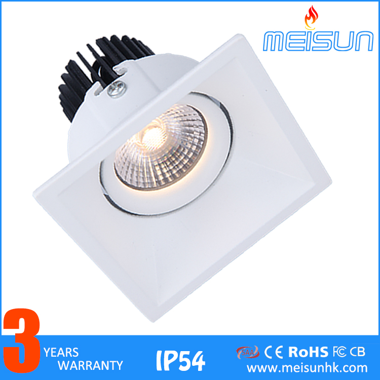 COB Recessed Rotatable IP54 2700K 3000K 5000K High Lumen 7w 10w Led <strong>Downlight</strong> With Good Price And Good Quality